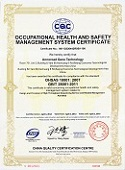 Occupational   Health and Safety   Management System  Certificate.jpg